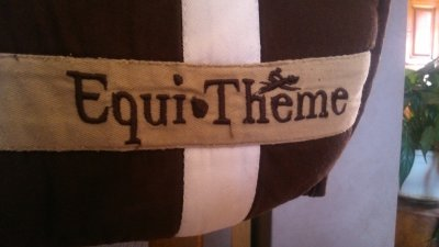 Tapis Equi-thème stripe marron