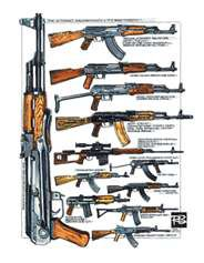 AK 47(avotmat kalachnikov modéle 1947), différentes versions