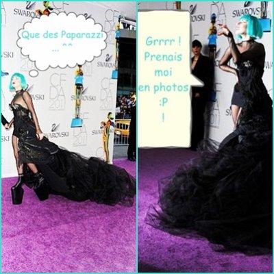 Gaga au tapis rouge =)