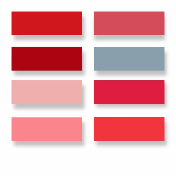 Nuancier rouge de fil en aiguille - Coloration rouge vif ...