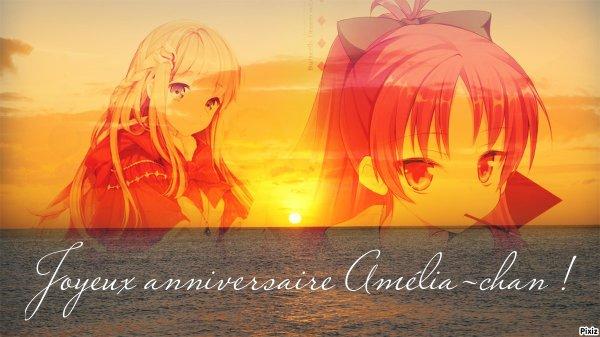 Joyeux anniversaire Amélia!!!