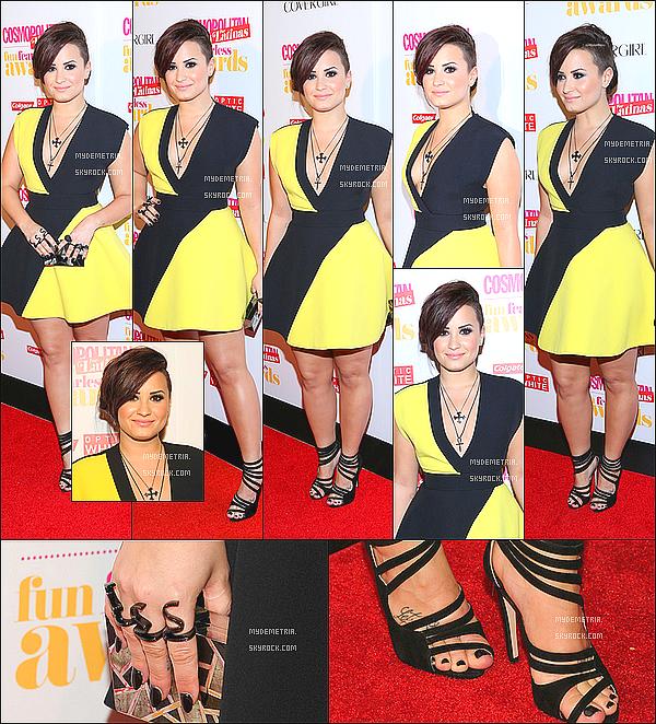 . Demi était à la soirée de Cosmopolitan Latina Awards, à New York..