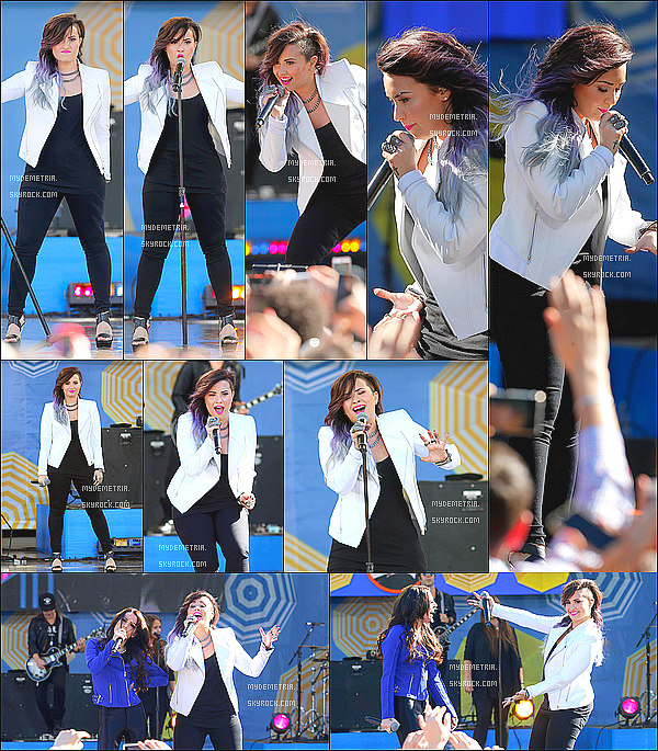 ". 06/06/2014 : Demi performant ""really don't care"" avec Cher  Lloyd au Good Morning America .."
