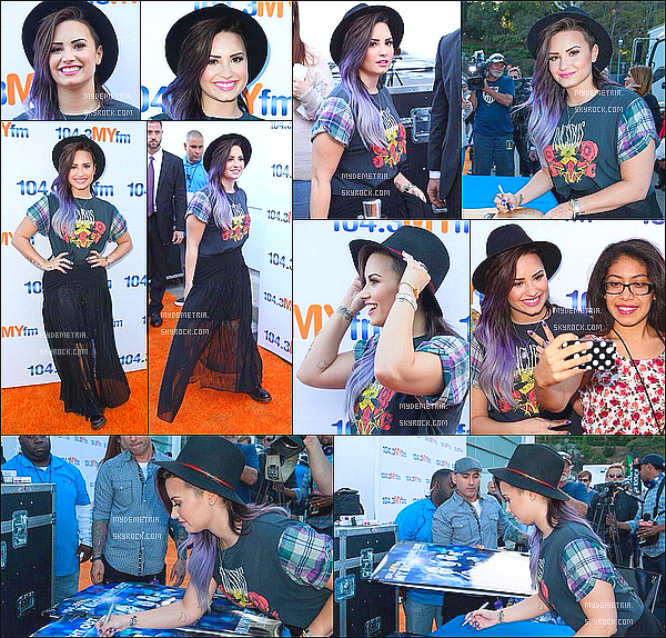 . 16/06/2014 : Demi sur le tapis rouge de Hollywood Bowl..