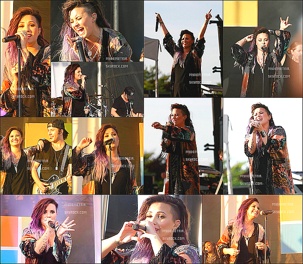 . 21/06/2014 : Demi performant à l'ouverture du magasin Microsoft à New York..