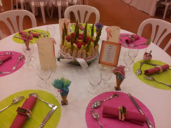 Kiumy notre mariage th me gourmandise 2 les for Table theme gourmandise