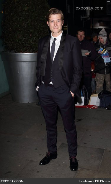 Ed Speleers at National Ballet X-mas Party