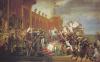La distribution des Aigles (drapeaux) aux Champs de Mars (5 décembre 1804)