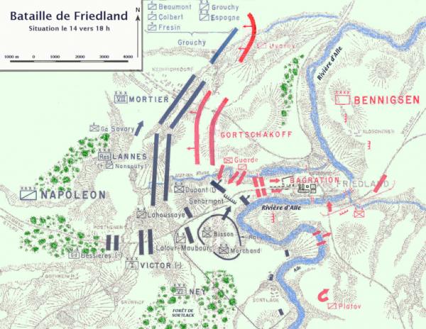 Quatrième Coalition : Campagne de Pologne : la victoire de Friedland (14 juin 1807)