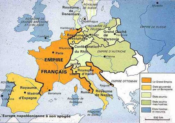 L'Empire de Napoléon Ier en 1811
