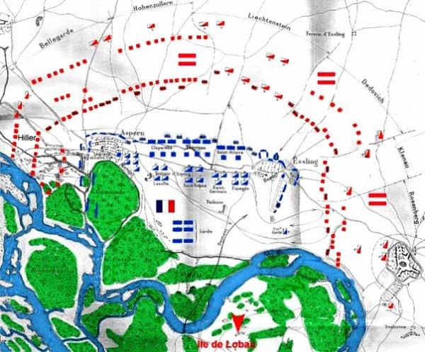 Cinquième Coalition : Campagne d'Autriche : la défaite d'Essling (21 et 22 mai 1809)