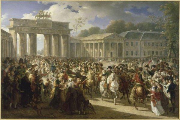 Quatrième Coalition : Campagne de Prusse : l'entrée de Napoléon Ier à Berlin (27 octobre 1806).