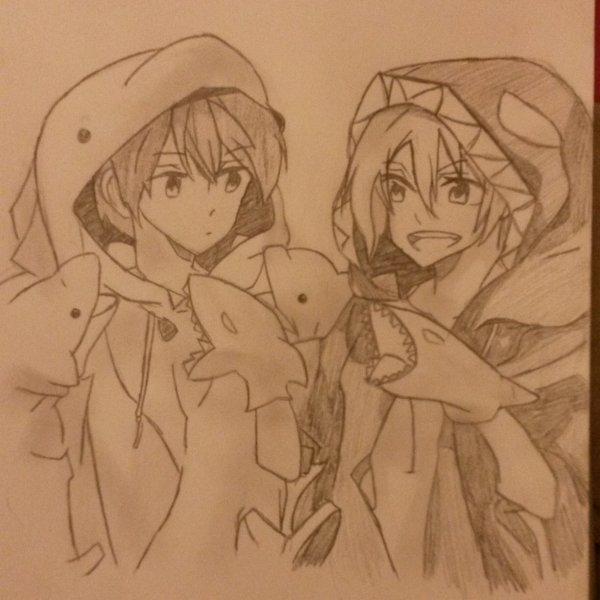 Dessin! Rin et Haru~