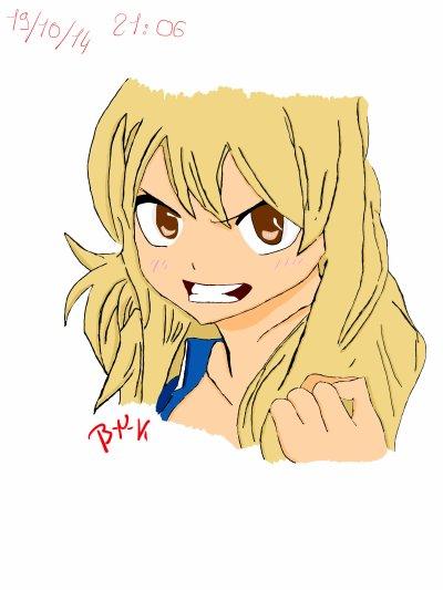 1er Dessin Tab: Lucy Heartfilia (Fairy Tail)