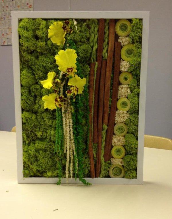 Cadre floral mousseux