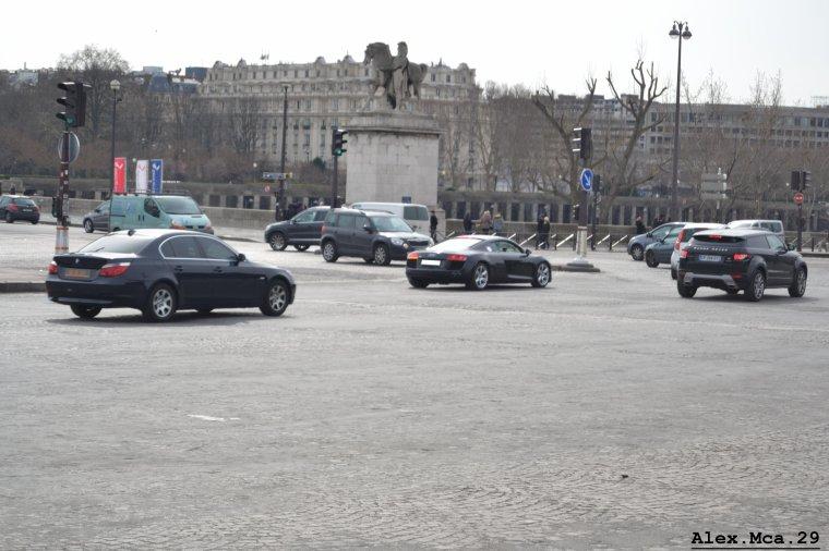 Audi R8(Fontaine du Trocadéro Paris)(15/03/13)