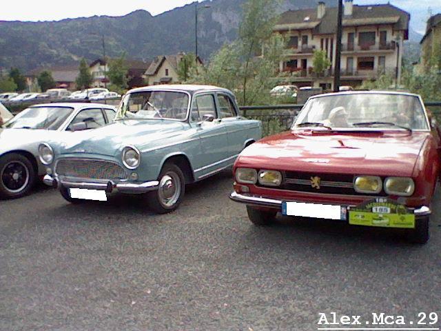 Peugeot 504 Cabriolet vs Simca Arronde(La Jacquemarde Taninges)(01/08/10)