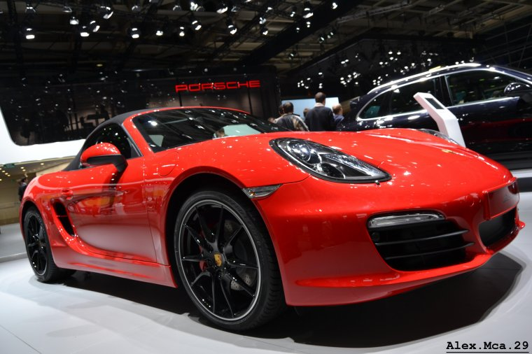 Porsche Boxster S(Stand Porsche Hall 3 Mondial de l'auto 2012 Paris Porte de Versailles)(06/10/12)