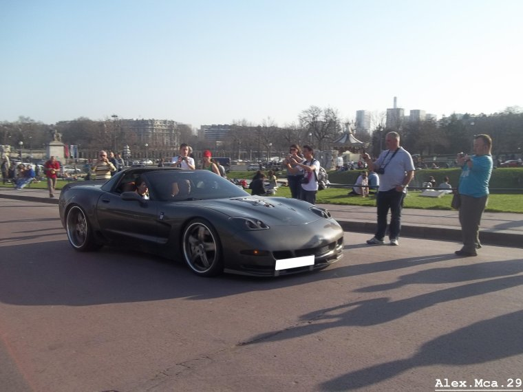 Chevrolet Corvette C5 800HP(Rallye de Paris GT 2012 et 2013 Fontaine du Trocadéro Paris)(16/03/12)