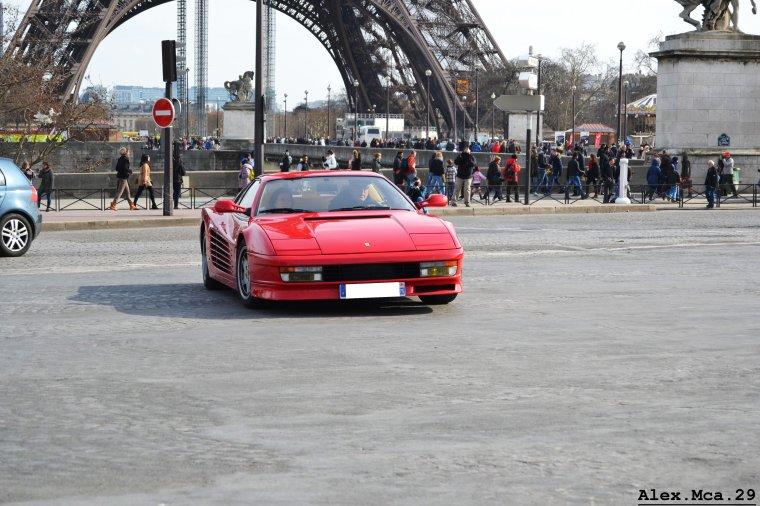 Ferrari 512 Testarossa(Rallye de Paris GT 2013 Fontaine du Trocadéro Paris)(16/03/12)