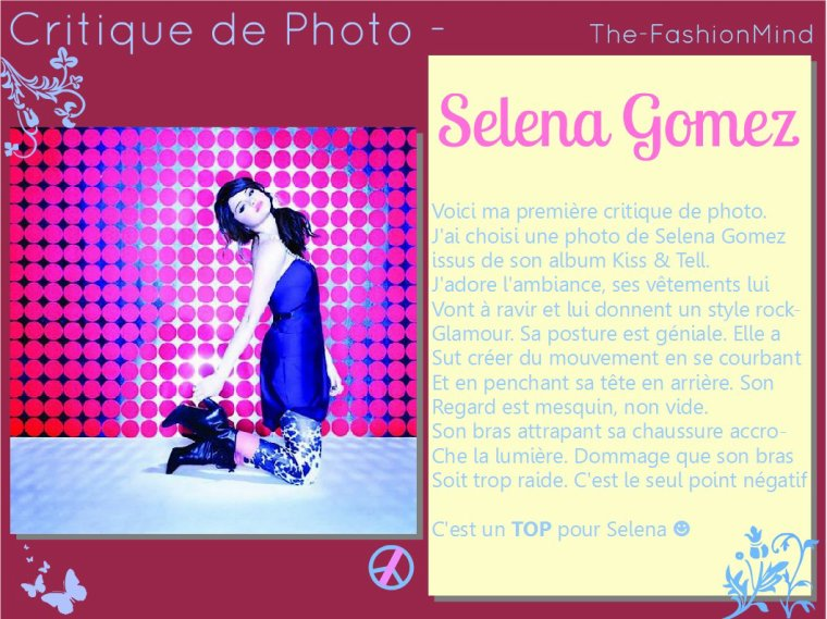 Double article ~ Critique de tenue n°2 - Leighton Meester        Critique de Photo n°1 - Selena Gomez
