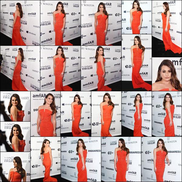 29/10/15 - Lea M. a été vue lors de la soirée « amfAR Inspiration Gala » se déroulant à Los Angeles !Même si elle semble assez fatiguée sur les clichés, l'actrice a foulé le tapis rouge dans une looongue tenue rouge ultra glam  ! Top ou bien flop ? [/alig fen]