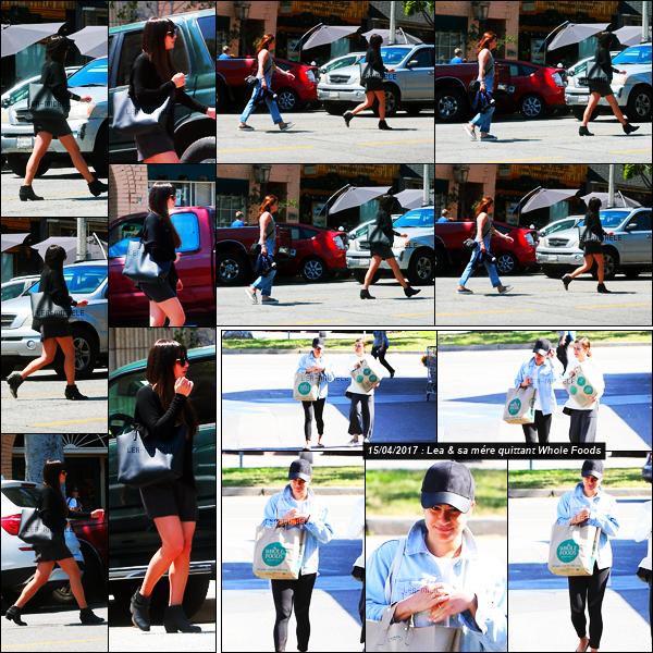 18/04/17 ─    Lea  à été vue avec sa mère Edith alors qu'elles allaient déjeuner ensemble à Los Angeles.Peu de photos  disponibles pour cette nouvelle sortie, du peu que l'on voit je met quand même un Top à notre Lea, même si c'est assez sombre !![/alig fen]