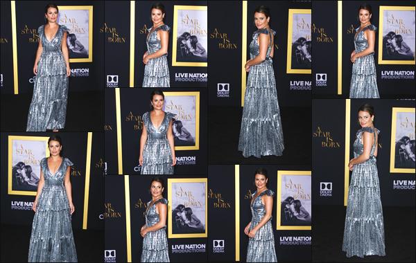 """"""" •  24/09/18    —   Lea Michele s'est rendue à l'avant première du film « A Star is Born » qui avait lieu, dans Los Angeles, CA !Je dois dire que je trouve notre actrice vraiment magnifique lors de cet événement. C'est donc avec plaisir que je lui accorde un beau top.  """""""