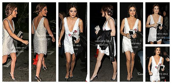 ------------+ 12/05/2016 : Lucy était à la fête de NYLON Young Hollywood Party présentée par BCBGeneration - LA Lucy était juste magnifique dans cette sublime tenue blanche ! Pour moi c'est un gros TOP car Lucy est tellement mignonne !  ------------+
