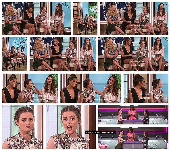 ------------+ 21/06/2016 : Lucy et ses co-stars (sans Ashley) était sur le plateau de The Talk dans - Los AngelesNos 4 jolies menteuses ont parlé de leurs théories sur l'identité de -A. Plus tard, elles ont également joué au Trivia Game. ------------+