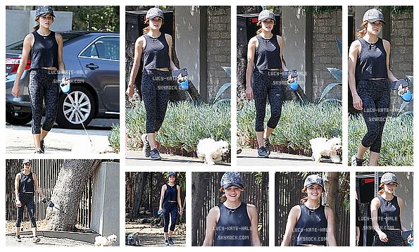 ------------+ 20/08/2016 : Lucy a été aperçue par les paparazzis promenant son petit chien,Elvisdans -Los Angeles Pour cette sortie Lucy a optée pour une tenue sportive; jogging, basket,casquait. Lucy reste quand même magnifique ! TOP! ------------+
