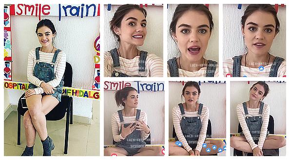 ------------+ 09/09/2016 : Lucy a fait un voyage caritatif sur 3 jours avec l'association SmileTrain au - Mexique  Je n'ai rien à dire, à part vous montrer pourquoi j'admire tant Lucy ! Elle fait preuve de beaucoup de gentillesse! ♥ ------------+