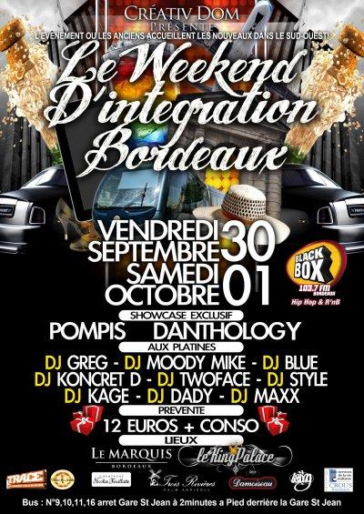 Ma prochaine soirée, week end d'accueil 2011 de Bordeaux