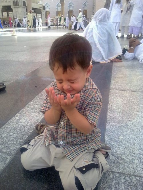 May God also make us wipe infront of ALLAh like this child