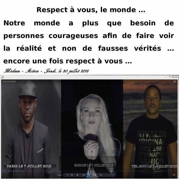 Respect à vous ...