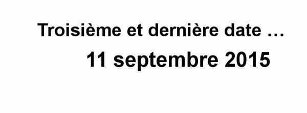11 septembre 2015
