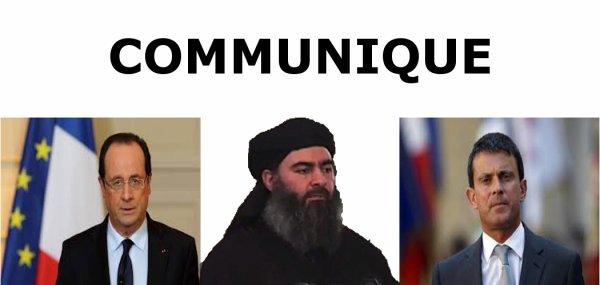 France alerte d'attentat : Communiqué