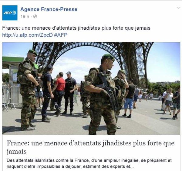 France alerte d'attentat : Communiqué ...  Suite