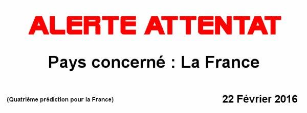 « Citoyens Français courage vous allez être confrontés à un attentat. »
