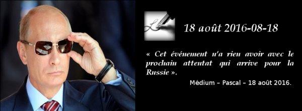 Cet événement n'a rien avoir avec le prochain attentat qui arrive pour la Russie ...