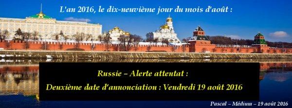 Russie, deuxième date d'annonciation ....