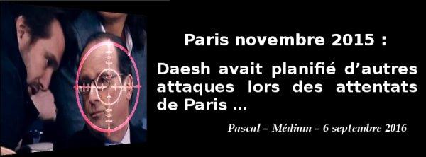 Paris novembre 2015, Daesh avait planifié d'autres attaques