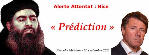 Alerte Attentat - Prédiction – 26/09/16