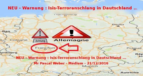 Alerte attentat pour la « Ville de Francfort » - 21/12/2016