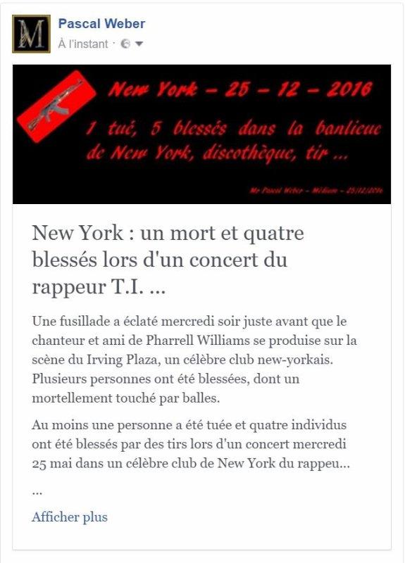 New York : un mort et quatre blessés lors d'un concert du rappeur T.I. …