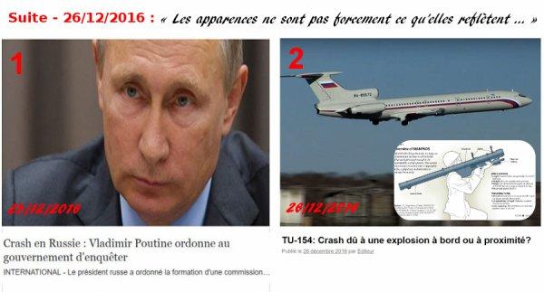 TU-154: Crash dû à une explosion à bord ou à proximité?