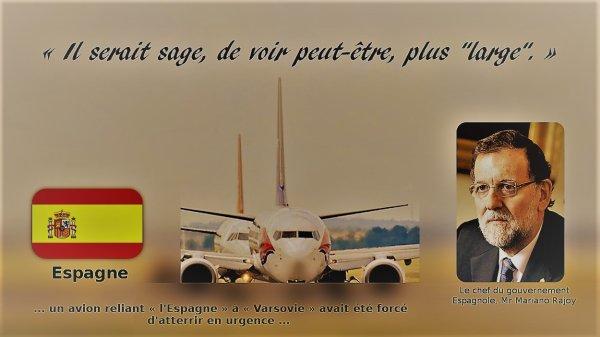 La télévision tchèque a rapporté qu'un avion reliant l'Espagne à Varsovie …