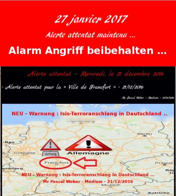 Alerte attentat maintenu …