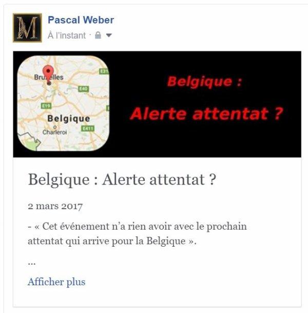 Belgique : Alerte attentat ?