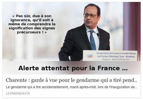 Tir accidentel lors du discours de Mr François Hollande ...
